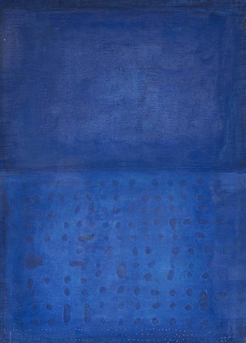 peinture contemporaine en bleu